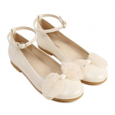 Leather ballet flats with bow CHARABIA for GIRL