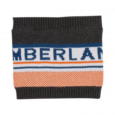 Jacquard cotton neck warmer TIMBERLAND for BOY