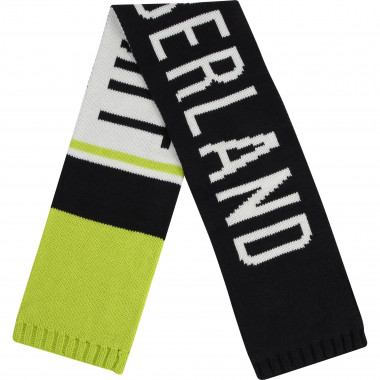 Reversible knitted scarf TIMBERLAND for BOY