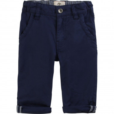Plain cotton twill trousers TIMBERLAND for BOY