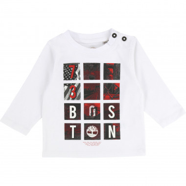 Organic cotton T-shirt with image TIMBERLAND for BOY