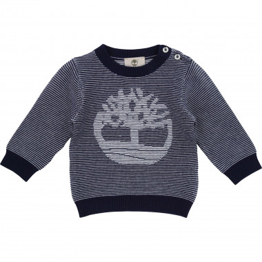 Striped motif cotton jumper TIMBERLAND for BOY