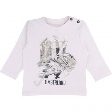 Cotton jersey buttoned T-shirt TIMBERLAND for BOY