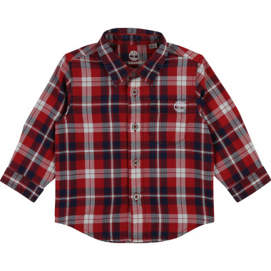 Checked cotton twill shirt TIMBERLAND for BOY