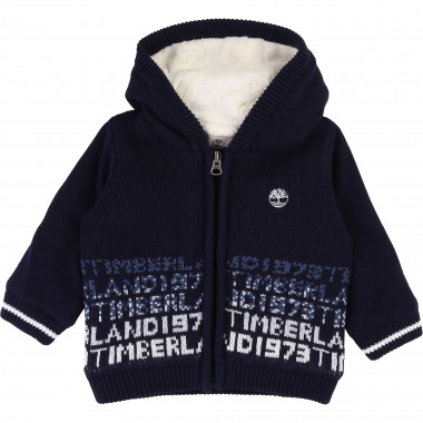 Knit cardigan with hood TIMBERLAND for BOY