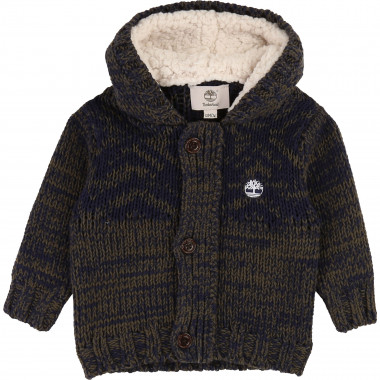 Knit hooded cardigan TIMBERLAND for BOY