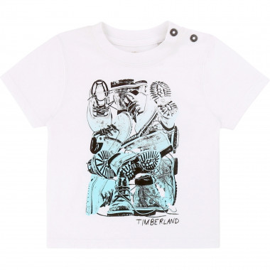 Printed organic cotton T-shirt TIMBERLAND for BOY