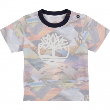 Round-neck printed T-shirt TIMBERLAND for BOY