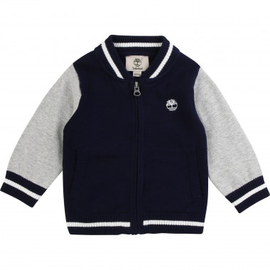 Zipped cotton cardigan TIMBERLAND for BOY