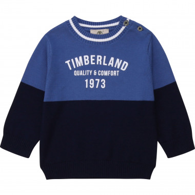 Colour block cotton jumper TIMBERLAND for BOY