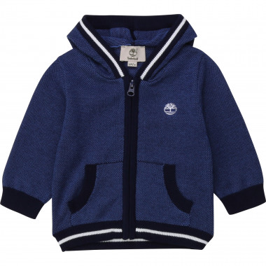 Novelty hooded cardigan TIMBERLAND for BOY