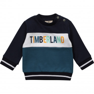 Tricoloured fleece sweatshirt TIMBERLAND for BOY