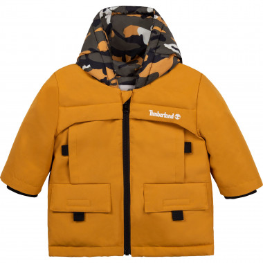 Water-repellent hooded parka TIMBERLAND for BOY