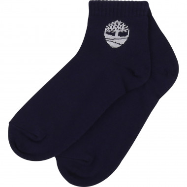 Cotton ankle socks with logo TIMBERLAND for BOY