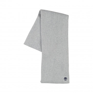 Plain 100% cotton knit scarf TIMBERLAND for BOY