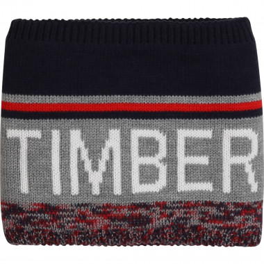 Lined jacquard knit snood TIMBERLAND for BOY