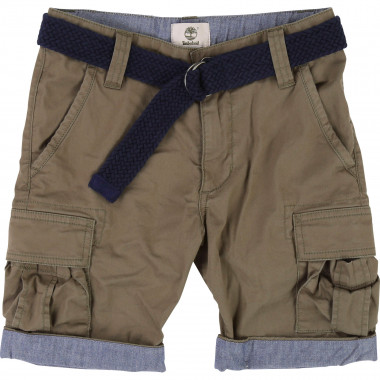 Bermuda chinos with belt TIMBERLAND for BOY