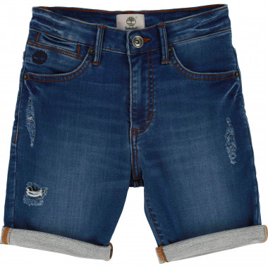 Worn detail denim shorts TIMBERLAND for BOY