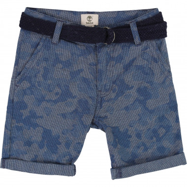 Printed shorts with belt TIMBERLAND for BOY