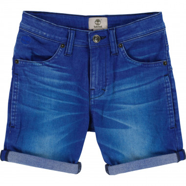 Crinkled-effect denim shorts TIMBERLAND for BOY