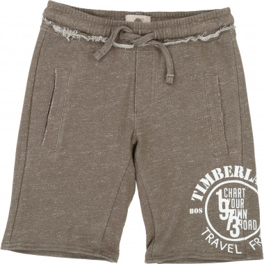 Slub fleece Bermuda shorts TIMBERLAND for BOY
