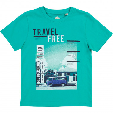 Screen printed cotton T-shirt TIMBERLAND for BOY