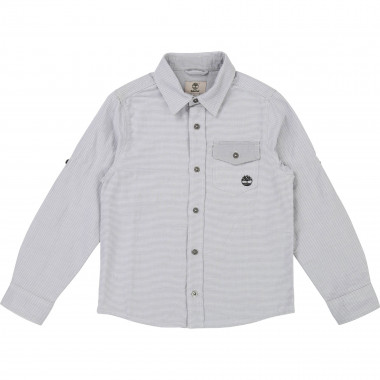 Cotton shirt with thin stripes TIMBERLAND for BOY