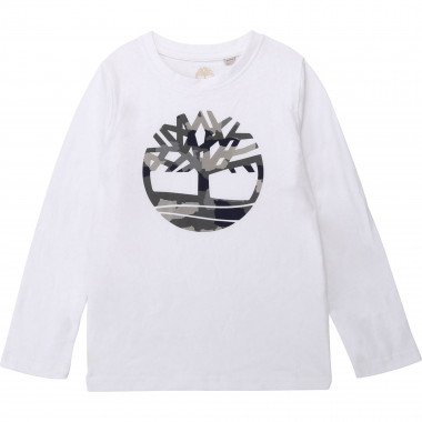 Cotton T-shirt with logo TIMBERLAND for BOY