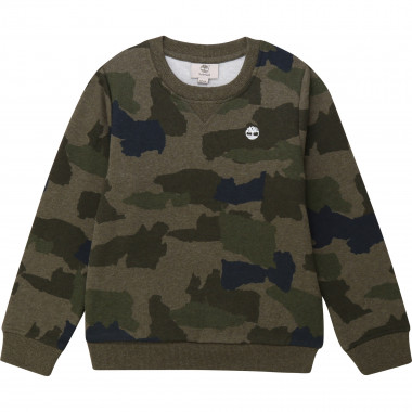 Round-necked fleece sweatshirt TIMBERLAND for BOY
