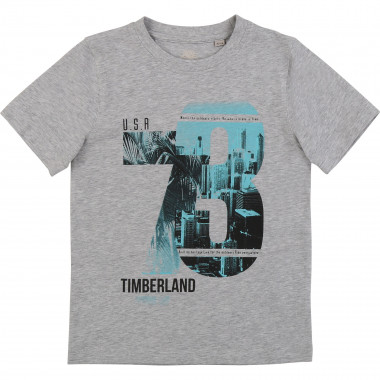 Silkscreened cotton T-shirt TIMBERLAND for BOY