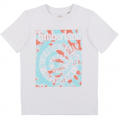 Printed 100% cotton T-shirt TIMBERLAND for BOY
