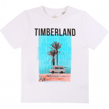 Round-necked cotton T-shirt TIMBERLAND for BOY