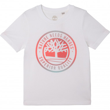 T-shirt with multicolour logo TIMBERLAND for BOY