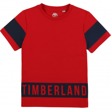 Two-toned cotton T-shirt TIMBERLAND for BOY