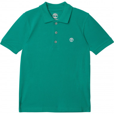 Organic cotton piqué polo TIMBERLAND for BOY