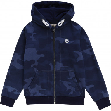 Hooded printed cardigan TIMBERLAND for BOY