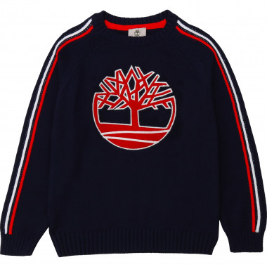 Knitted cotton jumper TIMBERLAND for BOY