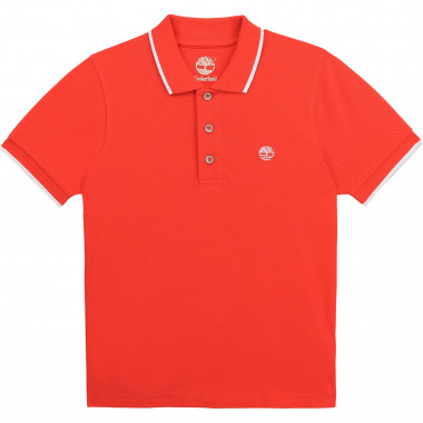 Short-sleeved cotton polo TIMBERLAND for BOY