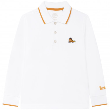 Long-sleeved cotton polo shirt TIMBERLAND for BOY