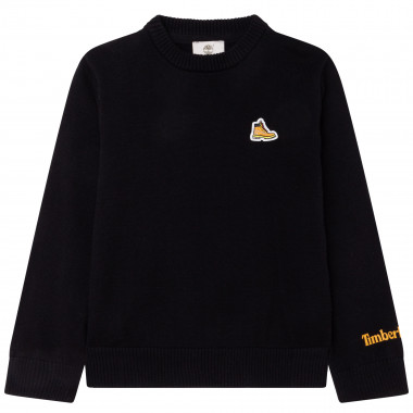 Long-sleeved cotton jumper TIMBERLAND for BOY