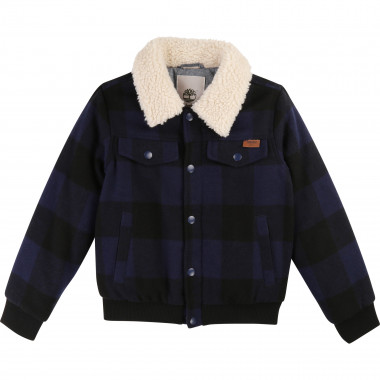 Checked buttoned jacket  for