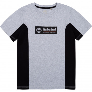 Two-tone cotton jersey t-shirt TIMBERLAND for BOY