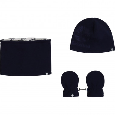 PULL ON HAT+SNOOD+MITTENS TIMBERLAND for BOY