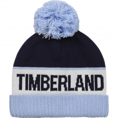 Cotton tricot beanie with pompom TIMBERLAND for BOY