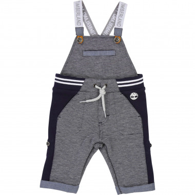 2-in-1 striped/plain dungarees TIMBERLAND for BOY