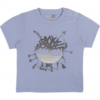 Cotton T-shirt with press stud TIMBERLAND for BOY