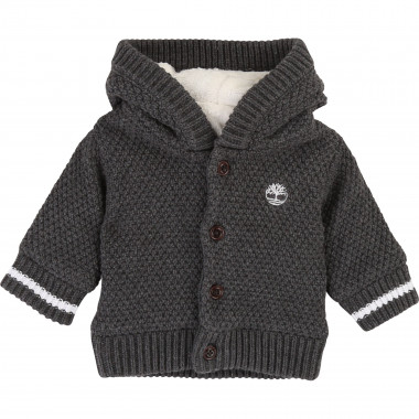 Hooded knit cardigan TIMBERLAND for BOY