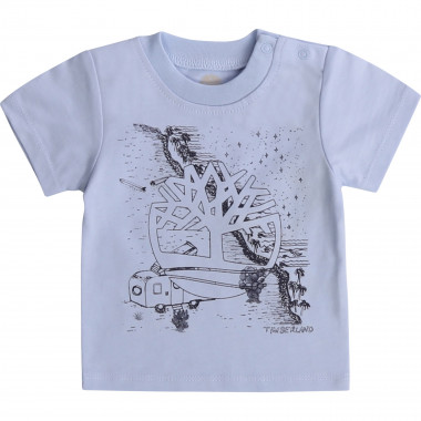 Cotton T-shirt with print TIMBERLAND for BOY