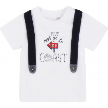 Cotton T-shirt with straps TIMBERLAND for BOY