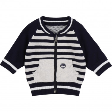 Reversible cotton cardigan TIMBERLAND for BOY